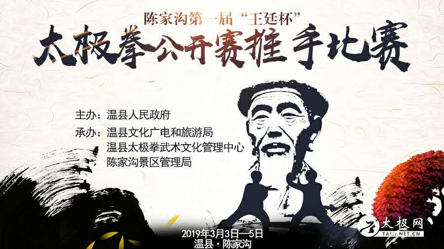 """陈家沟第一届""""王廷杯""""太极拳公开赛推手比赛"""